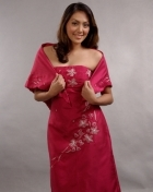 Women's Dress & Shawl Azalea Satin 100213 Azalea