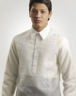 Men's Barong White Jusi fabric 100244 White