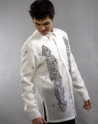 Men's Barong White Jusi fabric 100309 White