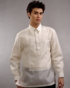 Men's Barong Cream Jusi fabric 100321 Cream