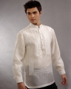 Men's Barong Cream Jusi fabric 100324 Cream
