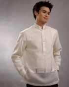 Men's Barong White Jusi fabric 100379 White