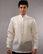 Men's Barong White Jusi fabric 100380 White