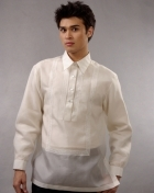 Men's Barong White Jusi fabric 100382 White
