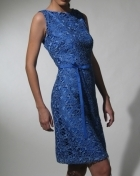Women's Dress Viloet Blue Macrame Lace 100463 Violet Blue