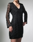 Women's Dress Black Macrame Lace 100468 Black