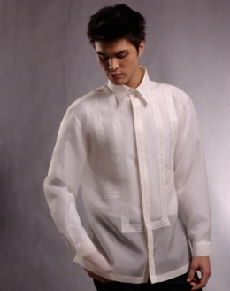 Men's Barong Cream Jusi fabric 100638 Cream