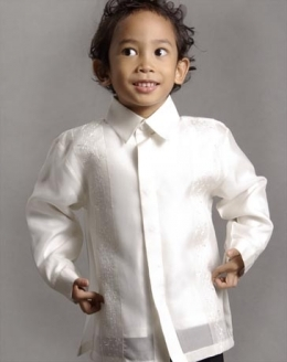 Boys' Barong Cream Jusi fabric 100677 Cream