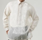 Men's Barong Cream Jusi fabric 100818 Cream