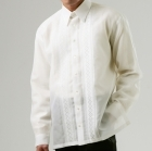 Men's Barong Cream Jusi fabric 100819 Cream