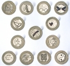 104 Silver English-card Wedding coins
