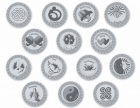 106 Silver Spanish-card Wedding coins