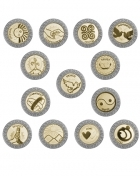 118-Silver-Gold English-card Wedding coins